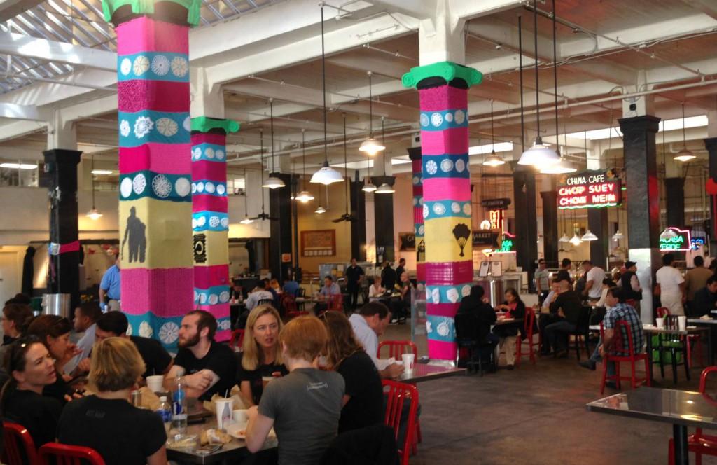 Spise hygge område Grand Central Market