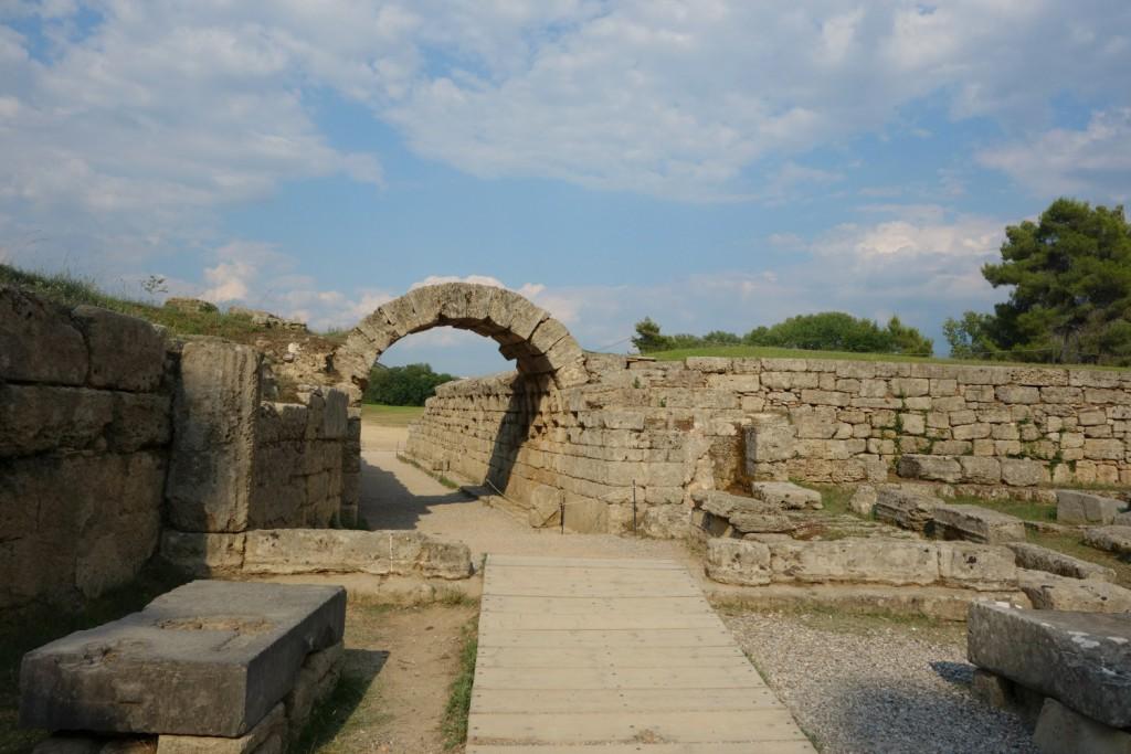 Indgangen til det olympiske Stadion