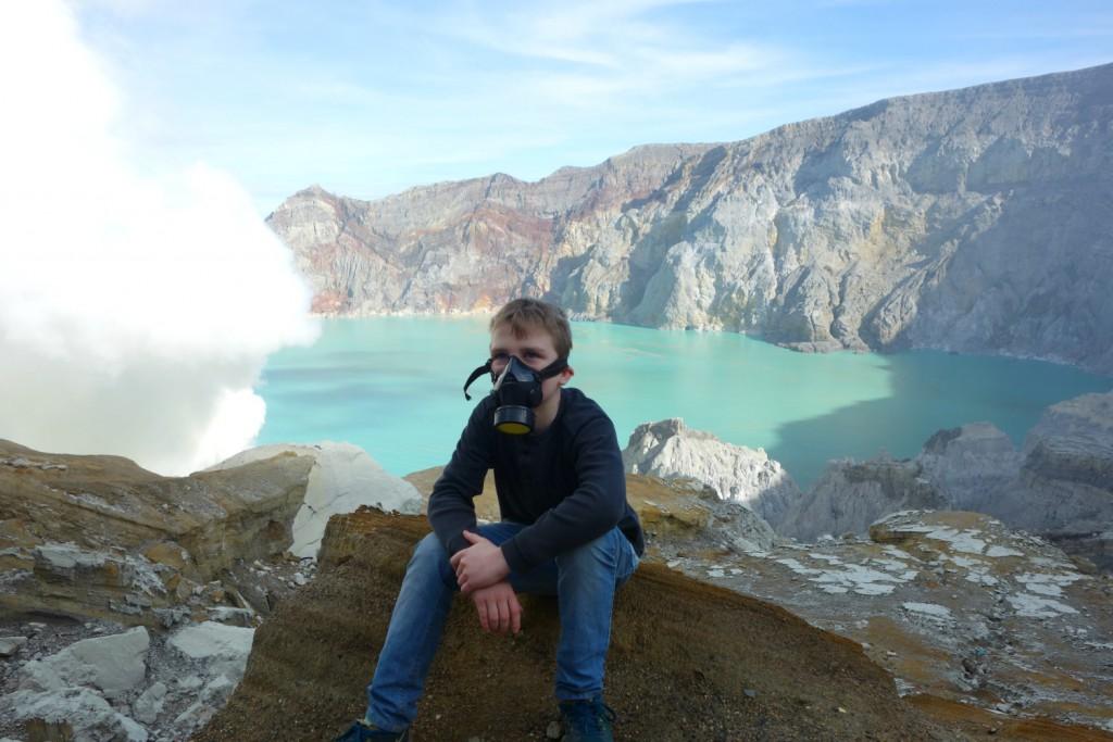 Mathias med smukke Kewah Ijen søen