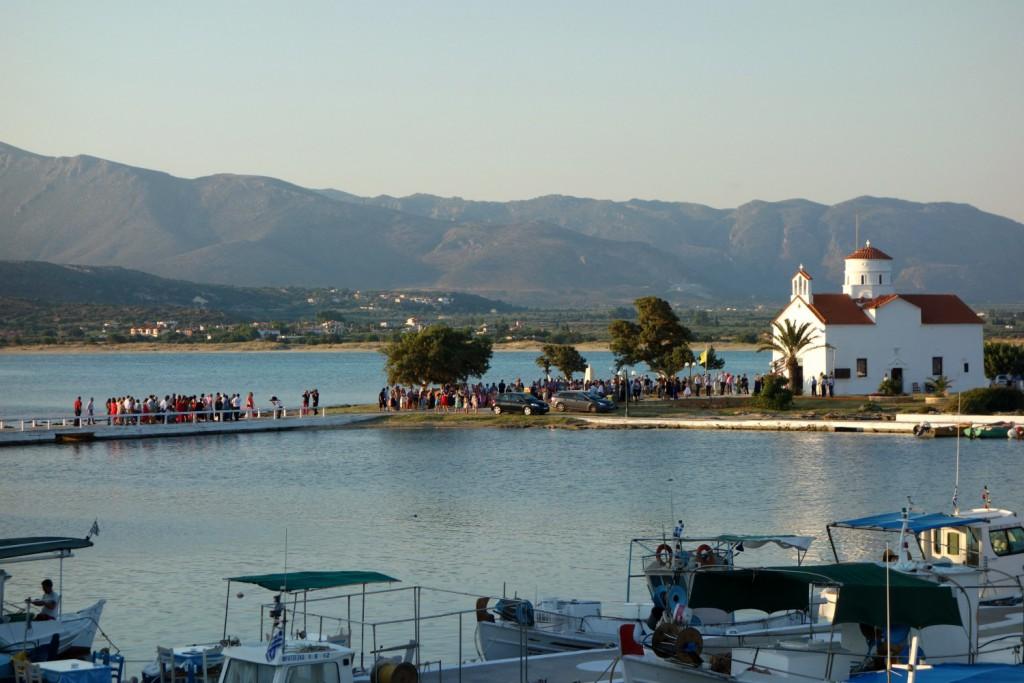 Bryllup i Agios Spyridon kirken