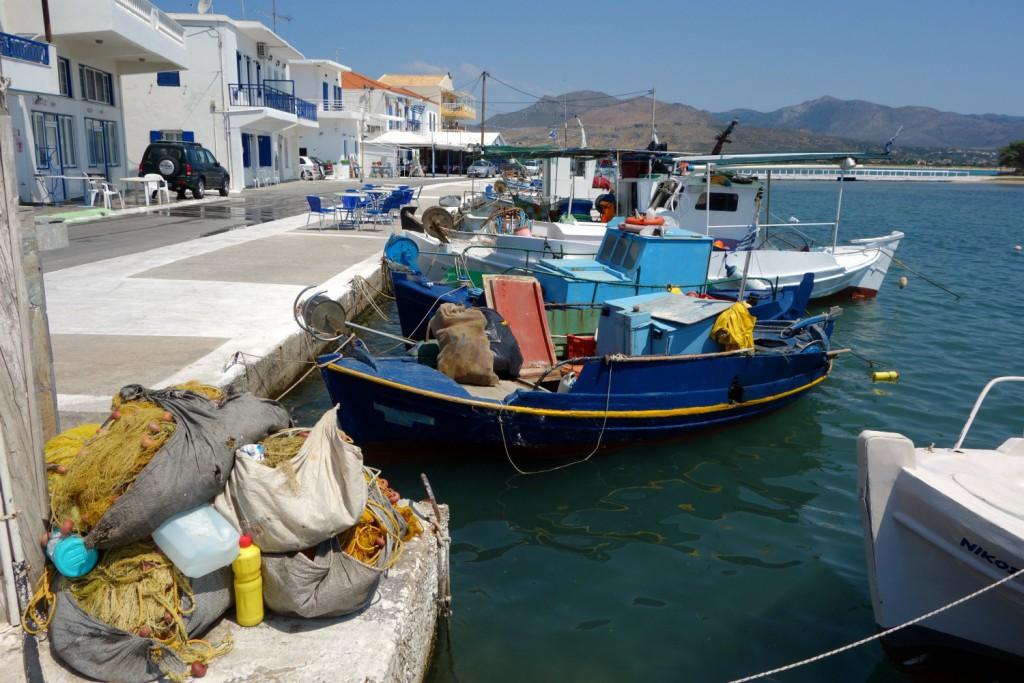 Tidlig morgen ved havnen i Elafonisos