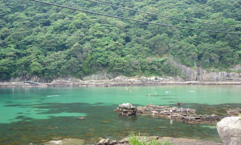 Kig fra hotellet til Nabetahama Beach