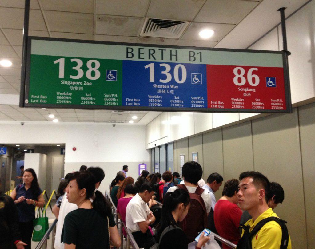 Bus 138 til Singapore Zoo