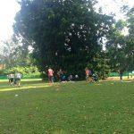 Mødregruppe morgengymnastik i Botanisk Have