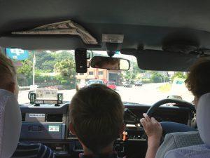 Taxi på vej til Touji