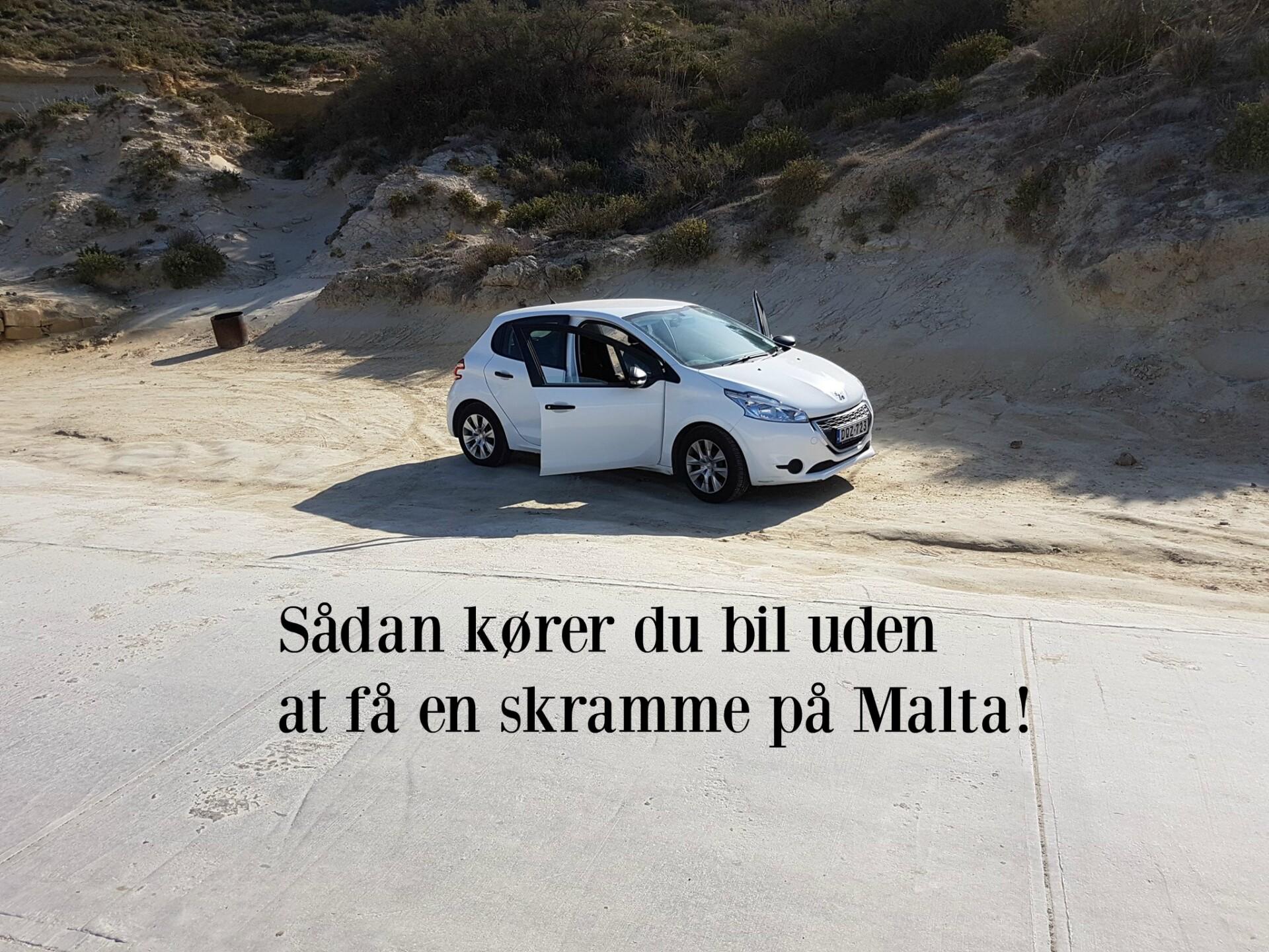 Sådan kører du bil uden at få en skramme på Malta