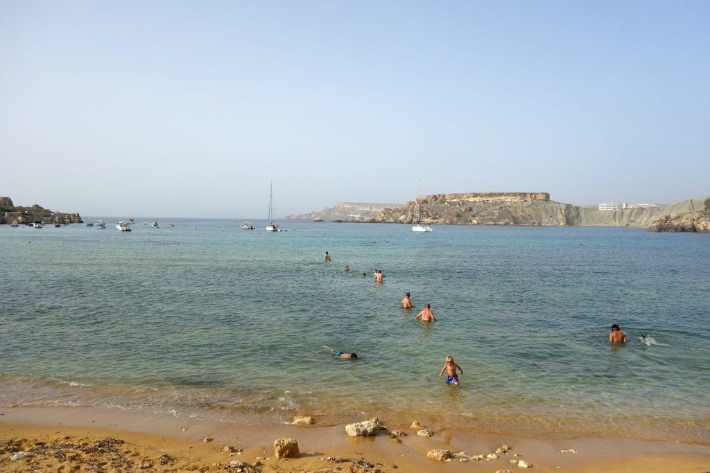 Gnejna Bay er en dejlig strand