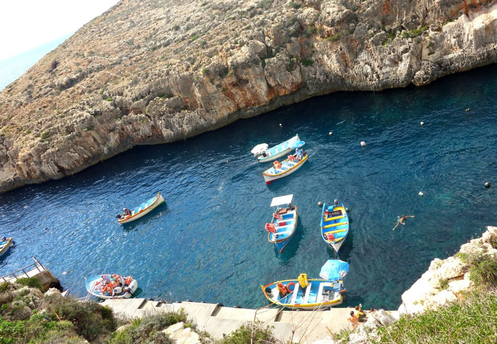 Blue Grotte skibe
