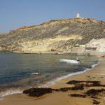 Gnejna Bay her kan du snorkle