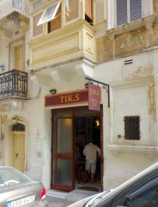 Tik.s Snack Bar i Valletta