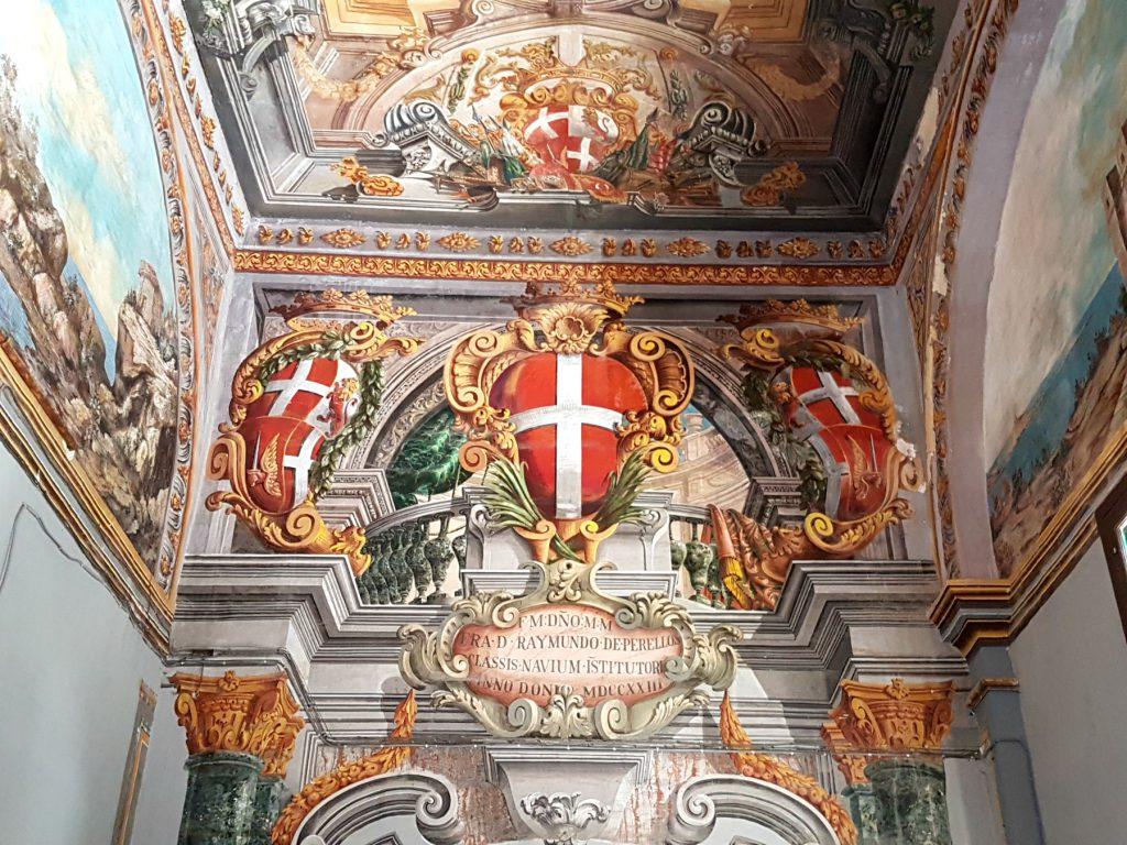 Vægmalerier i The State Rooms inde i Grand Masters Palæ