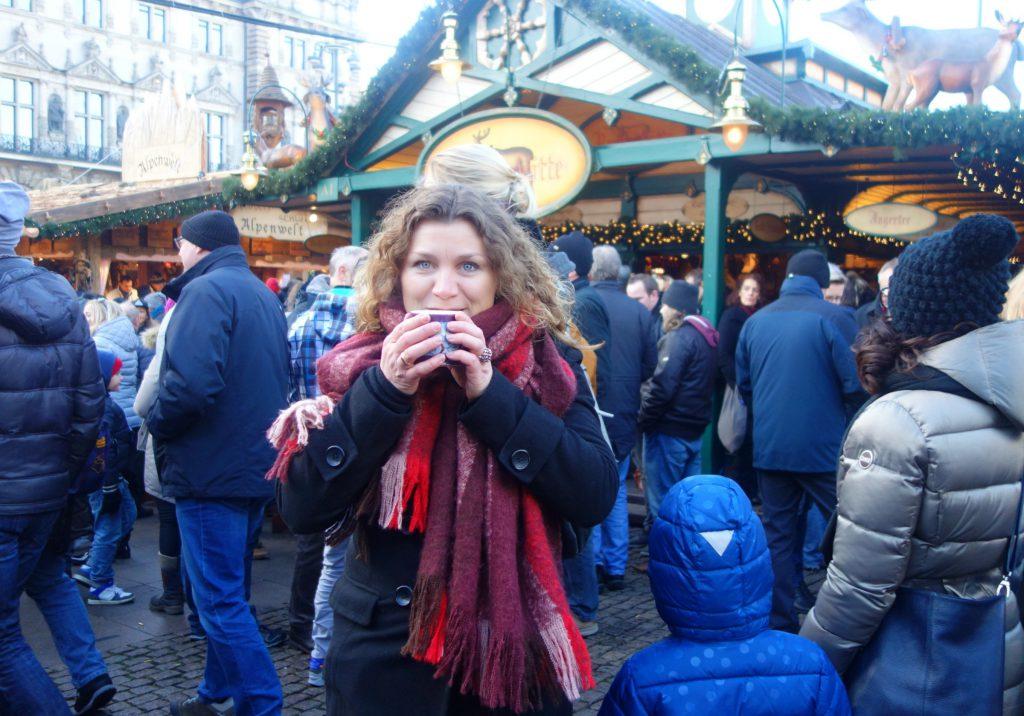 Gluhwein på Rathausmarkt