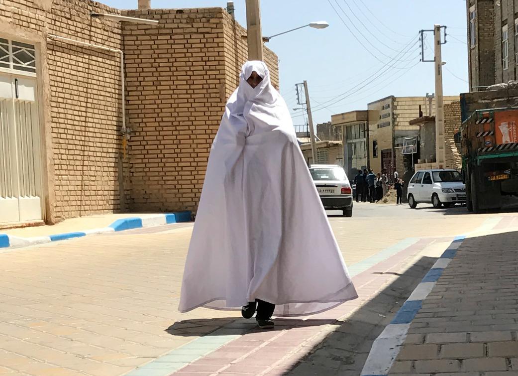 De hvide kvinders by Varzaneh i Iran