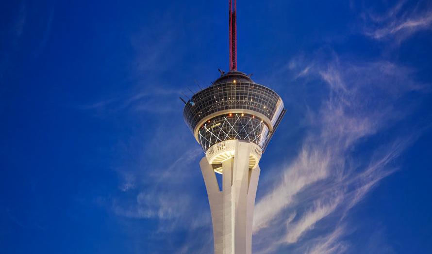 Hotelanmeldelse i Las Vegas: Stratosphere Hotel med udsigt til The Strip