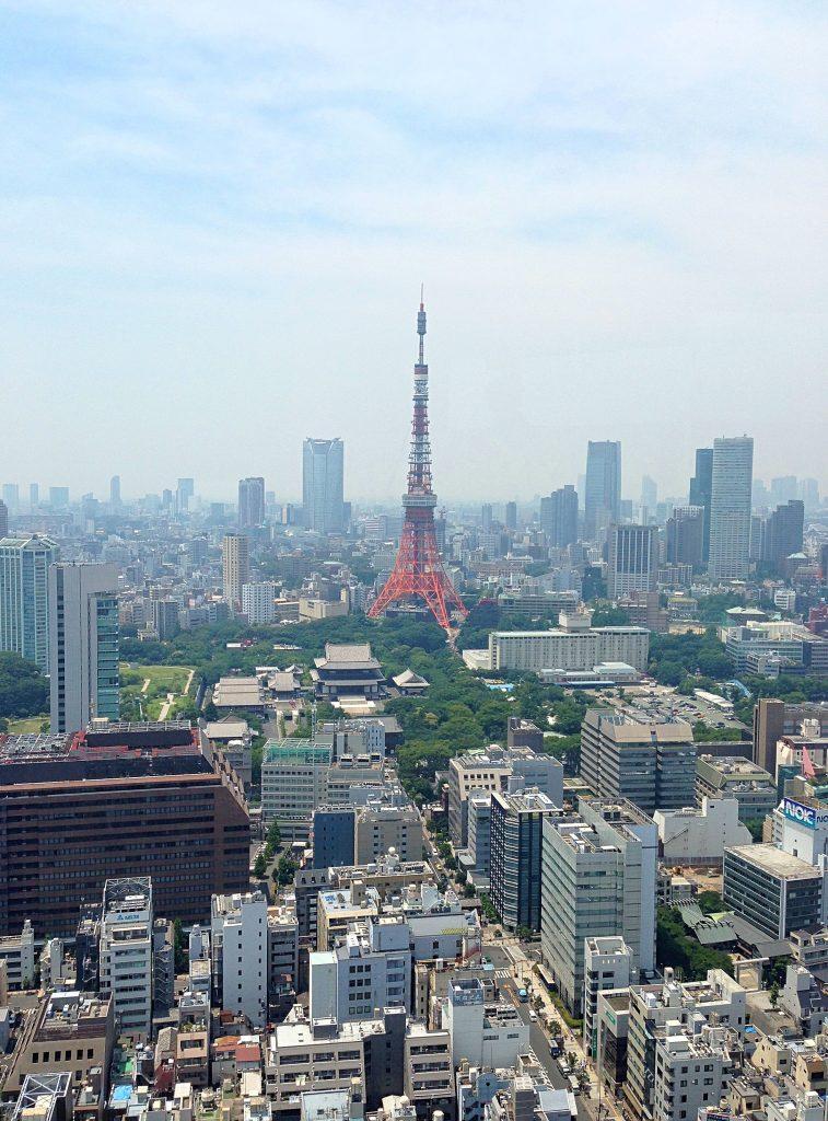 Tokyo Tower i centrum