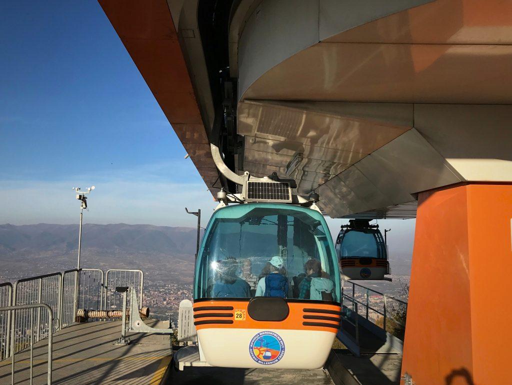 Svævebanen fra Skopje til bjerget Vodno