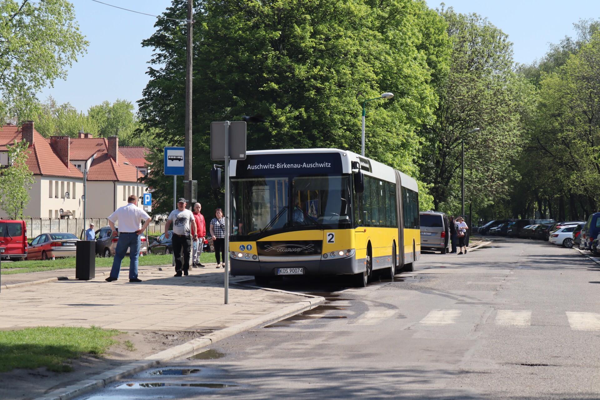 Gratis shuttlebus mellem Auschwitz og Birkenau