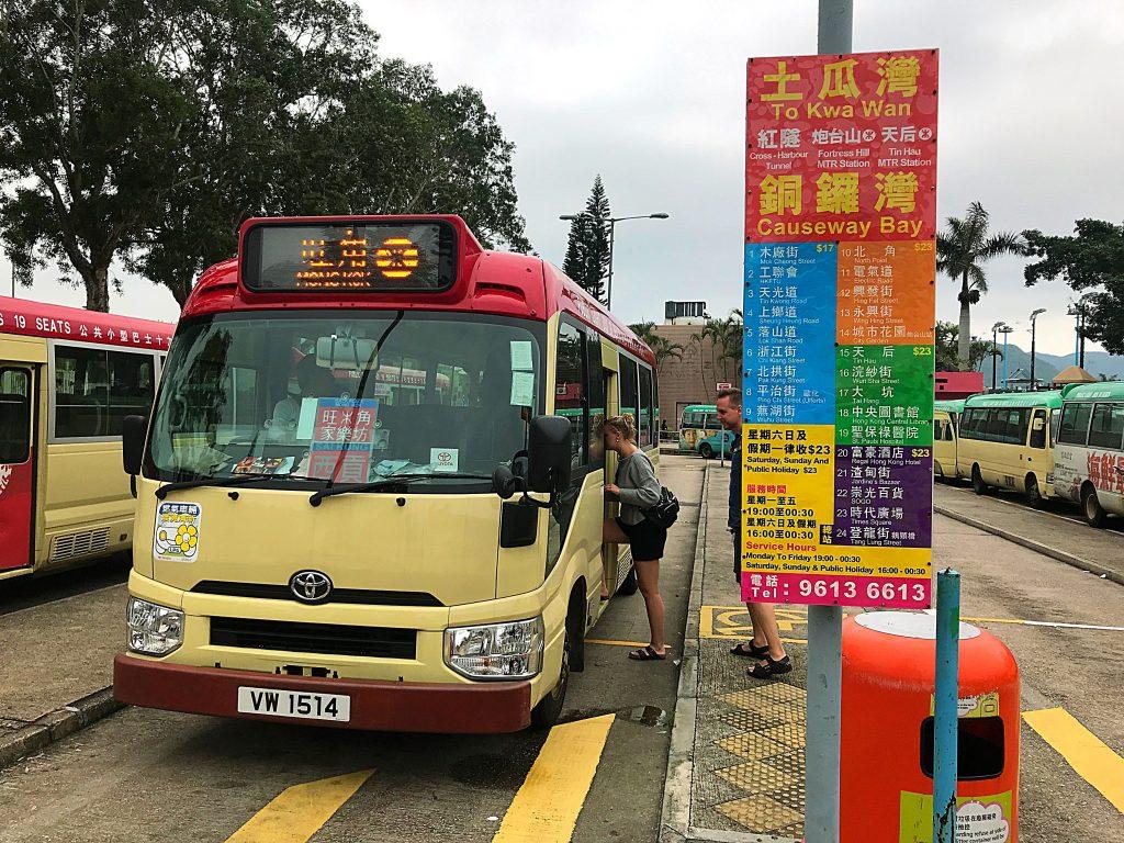 Bussen fra Sai Kung til Mong Kok