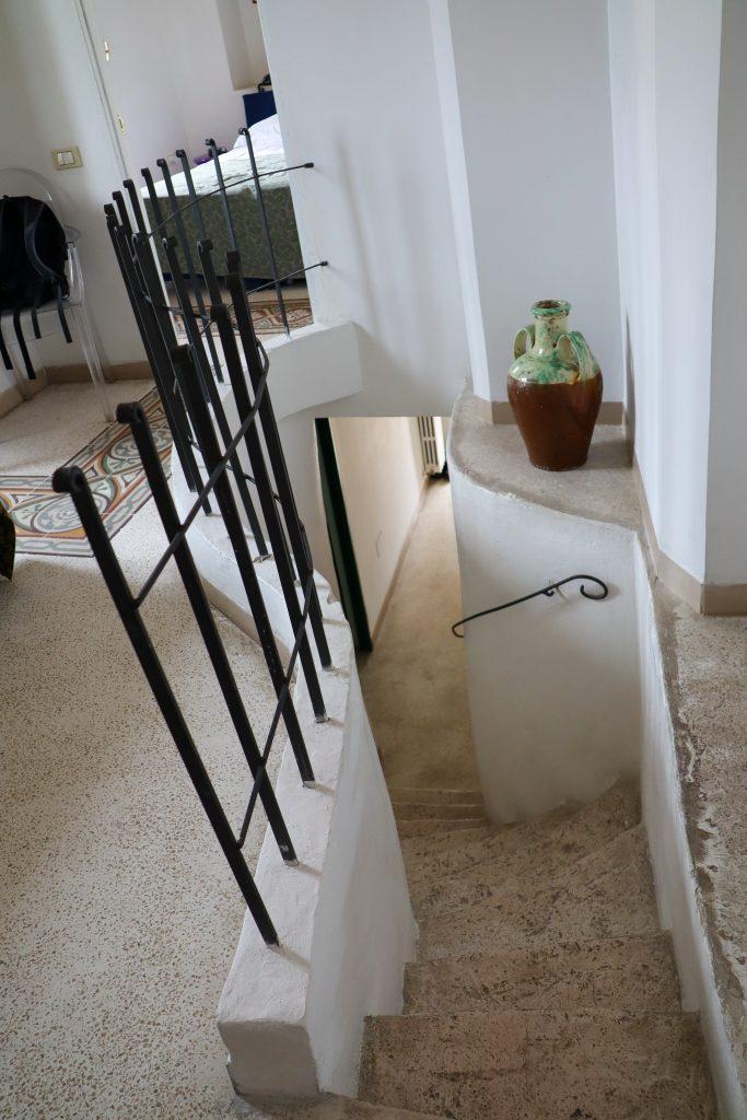 Trappen indenfor Hotel Sassi