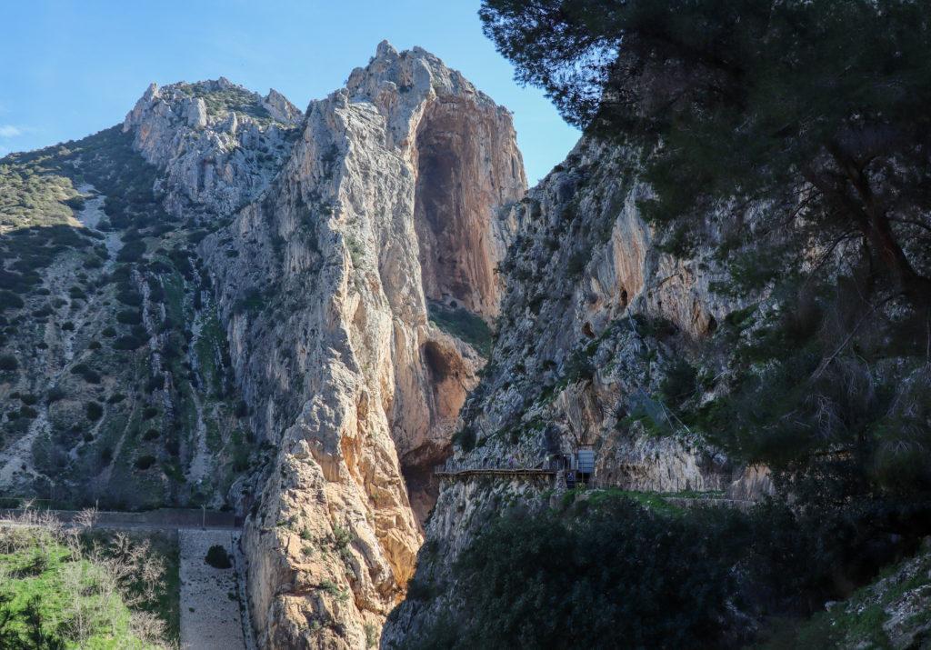 Canyon Gaitanes Gorge i det fjerne