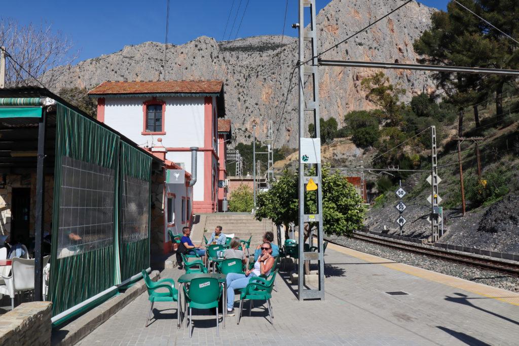 El Chorro togstationen