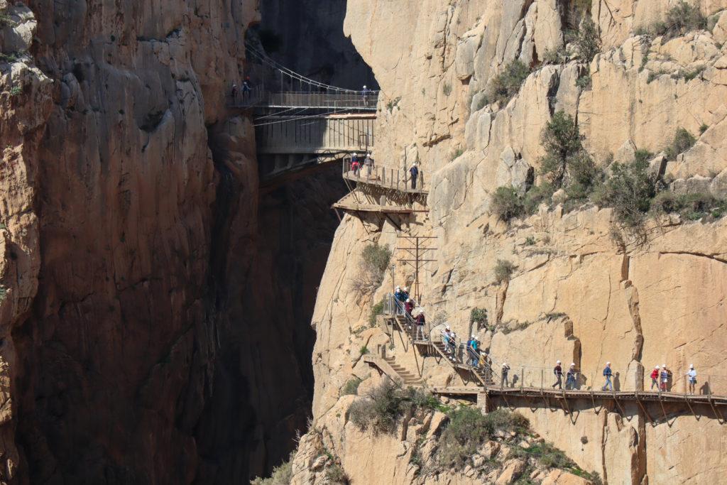 Gitterbroen og den sidste del af Caminito del Rey