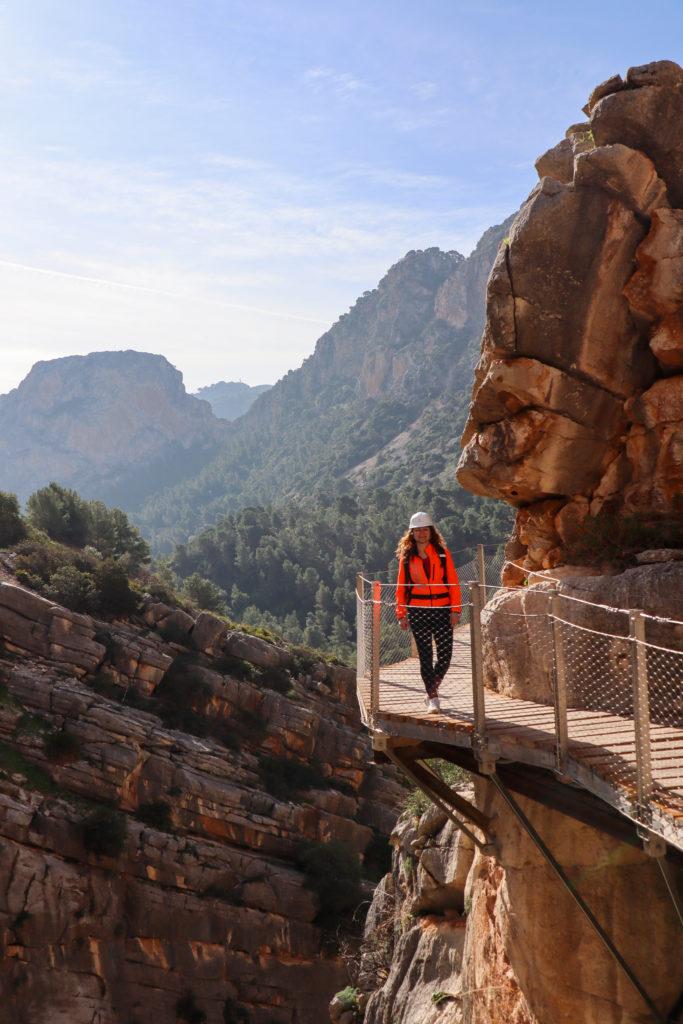 Hoyo Valley i det fjerne Caminito del rey