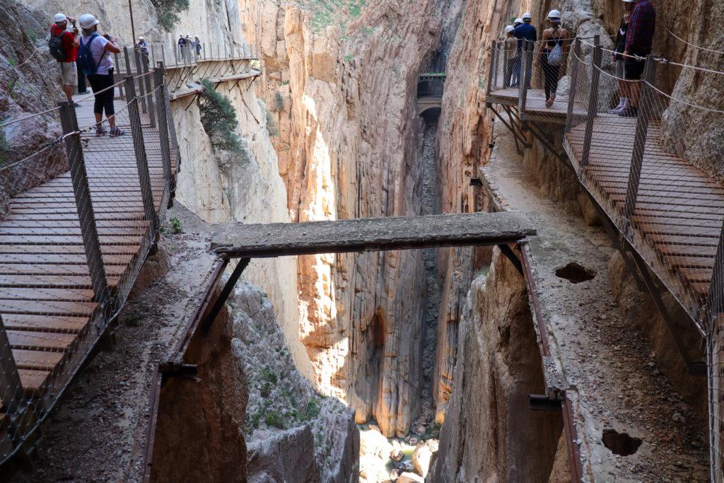 Sidste del af Canyon Gaitanes Gorge
