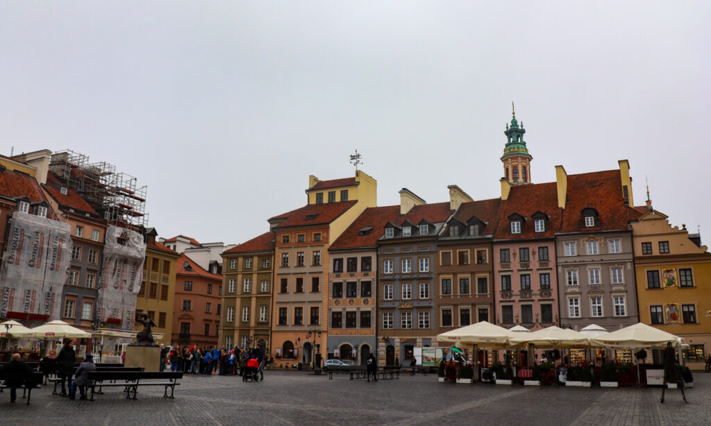 Historiske centrum i Warsawa