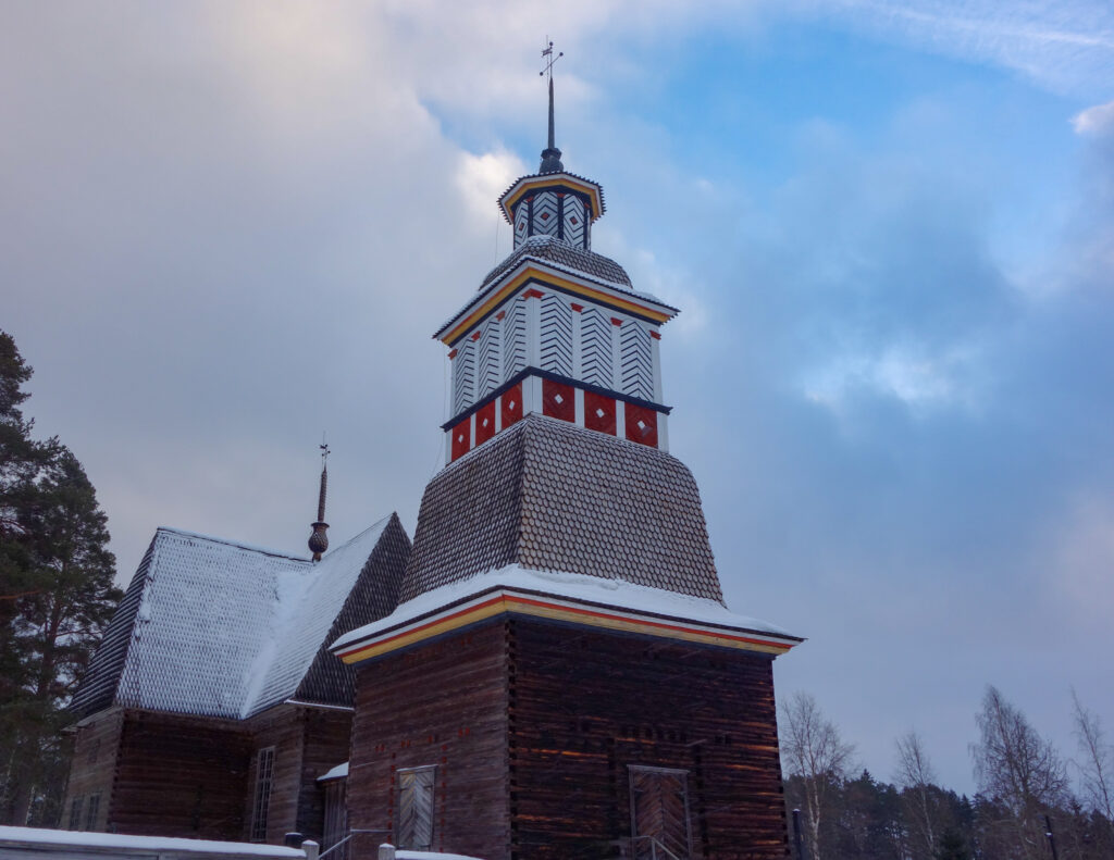 Petäjävesi gamle kirke i Finland